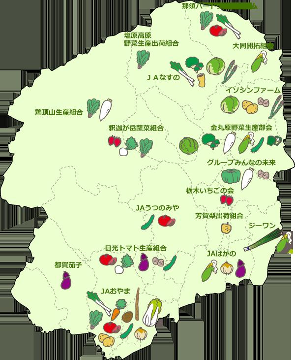 栃木県地図-園芸
