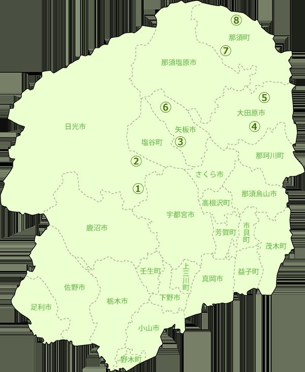 栃木県地図-養豚